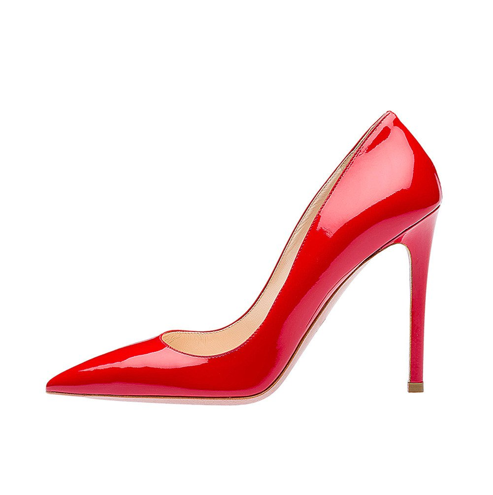 SexyPrey Women's Pointy Toe Stiletto Shoes Formal Office Evening Pumps B074M455C5 5 B(M) US|Red