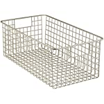 'InterDesign Classico Kitchen Pantry Freezer Wire Basket Organizer, Deep, Satin' from the web at 'https://images-na.ssl-images-amazon.com/images/I/51+gfPiUm-L._AC_SR150,150_.jpg'