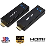 Measy W2H Nano Wireless HDMI Transmitter and Receiver Kit 60GHz Band Wireless HDMI Extender up to 30M/100FT Support 1080P 3D Video