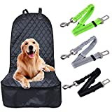 Pet Seat Cover for Cars, AutoEC Waterproof Back Seat Cover for Dogs Pets, Universal Design for All Cars, Trucks & SUVs with 3 Seatbelts