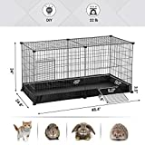 SONGMICS Small Animal Cage, Large Indoor Playpen