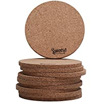 Sweese Cork Coasters for Drinks - 4 Inches - Set of 10,...