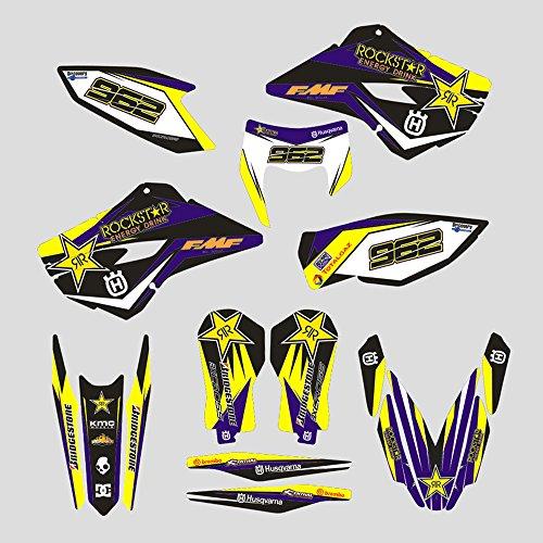 JFGRACING Personalizado Motocicleta Pegatinas Adhesivas Completas Pegatinas graficos Kit para 2014-2016 Husqvarna TE 125-250-300 FE 250-350 350S-450-501 5