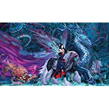 Artists of Magic Premium MTG Playmats: RIDE OF YOKAI with artwork by RUTH THOMPSON