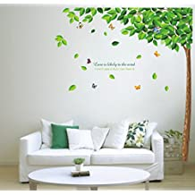Paris Decor - Giant Green Tree Wall Stickers Home Decor Vinyl Mural Art Wall Paper Stickers Wall Decal