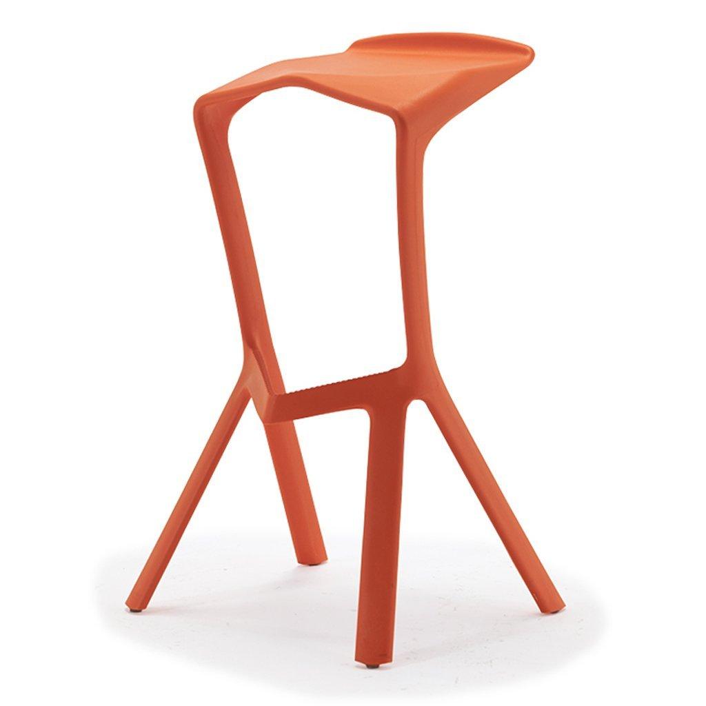 orange TLMY Stylish Creative Bar Stool High Stool Chair (color   Yellow)