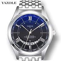 Relógio Masculino de Luxo Yazole D410 Pulseira de Aço e Couro