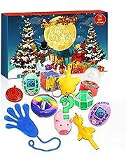 Fidget Adventskalender 2021 Sensorisk Leksaksset, Julkalender Med 24 Stycken Sensoriska Fidgetleksaker Fidget-tryck Anti-ångest Popleksaker Överraskning Gåva för Barn Vuxna