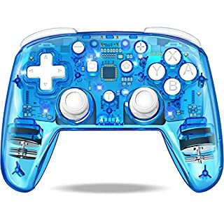 Wireless Controller for Nintendo Switch/Switch Pro/Lite, Switch Remote Control Gamepad with 4 Lighting Modes/Adjustable Turbo/Dual Motors Vibration for Nintendo Switch Controller