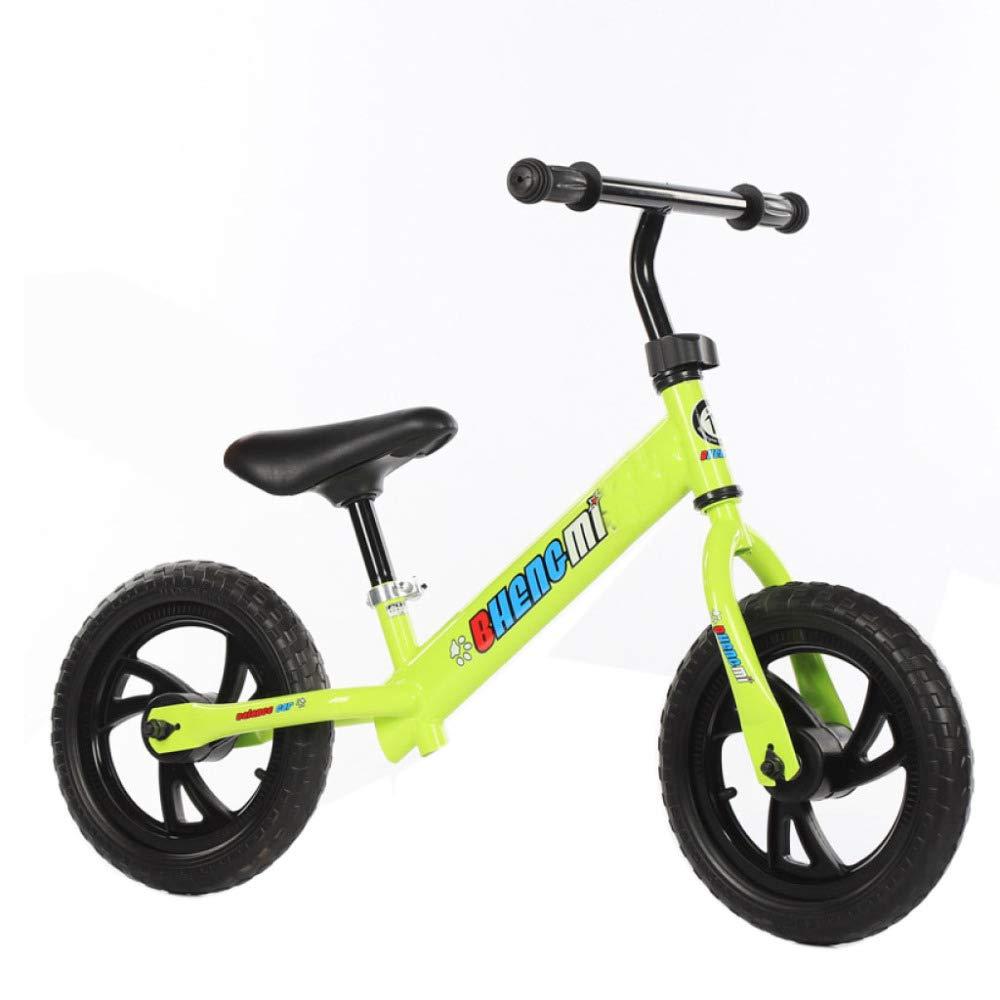 Balance 12 & 039;& 039; Sport Bike, Kein Pedal Und Keine Notwendigkeit, Aufzublasen, Alter 18 Monate Bis 5 Jahre, Lagergewicht 85kg,Gelb-12& 039;& 039;
