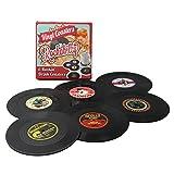 Coasters Set of 6 Colorful Retro Vinyl Record Disk