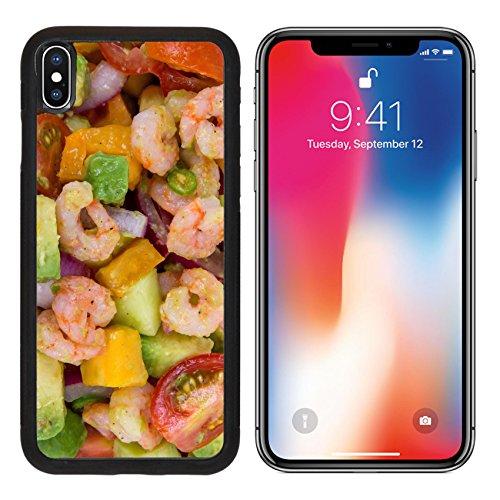 MSD Premium Apple iPhone X Aluminum Backplate Bumper Snap Case IMAGE ID: 30744754 Shrimp and avocado summer salad