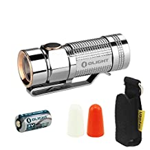 Bundle:Olight S1 Titanium Limited Edition Variable-Output Side-Switch LED Flashlight Cree Xm-l2 Nw LED 500 Lumens With Battery Diffusers And Skyben Holster (Polish Version)