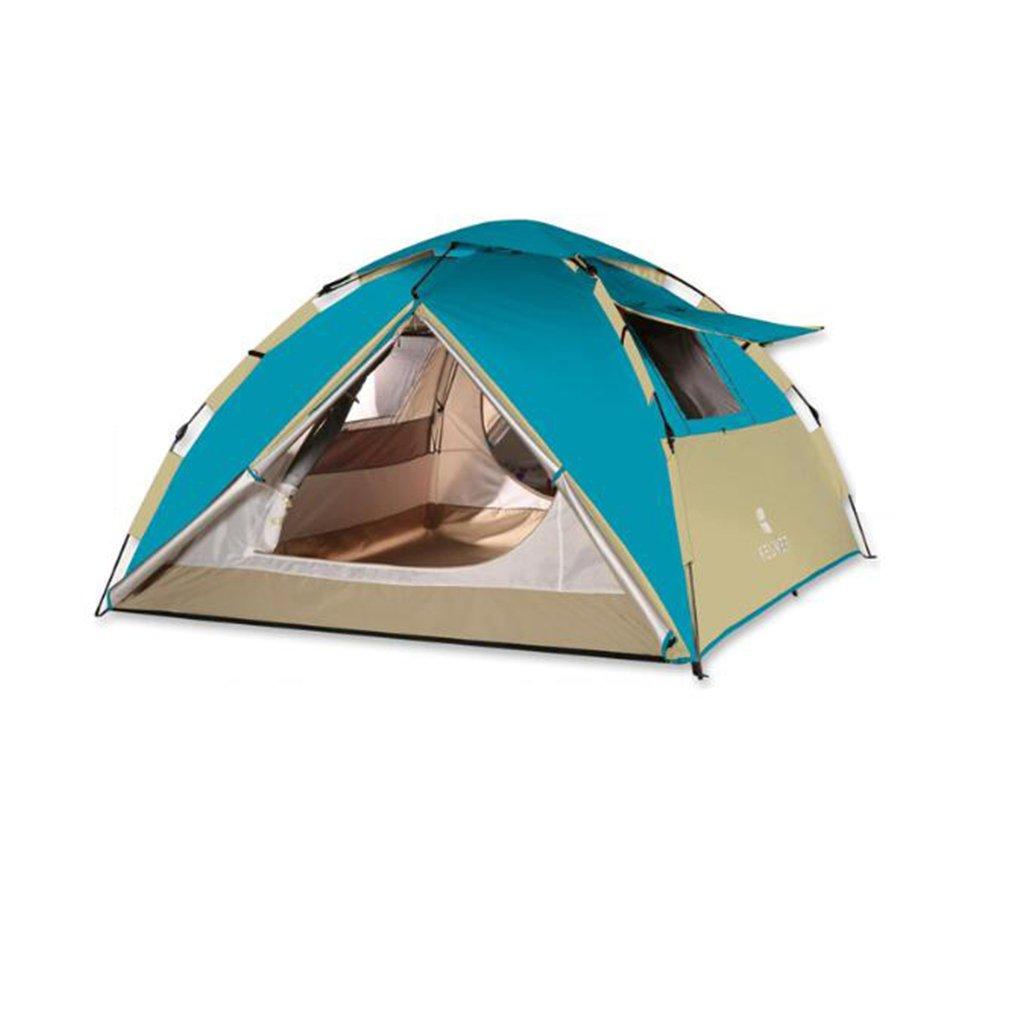 NINI Outdoor-Zelt Double Rainproof 3-4 Person Instant Automatische Automatische Instant Zelt Anti Wind Un 651e03