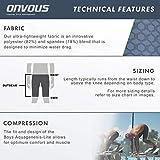 Onvous Boys AquaGenesis Compression Racing Swimsuit & Cross-Training Jammer/Shorts (Medium) Gray