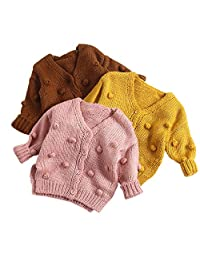 DKmagic Baby Girl Child Winter Ball in Hand Down Sweater Jacket Knit Tops Cardigan