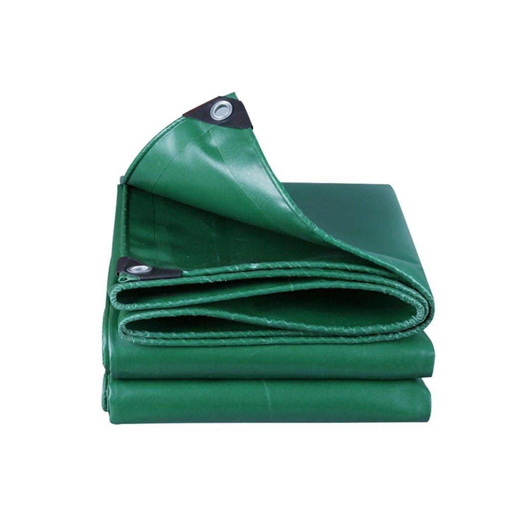 AJZXHE Tarpaulin regendichte Sonnencreme-LKW-Planenfracht-Holzschutztuch-Sonnenschutzisolierung haltbar, grün -Plane