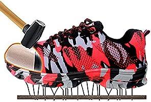 [ジャクシボー] 安全靴 作業靴 メッシュ 鋼先芯 鋼製ミッドソール セーフティーシューズ 通気性抜群 防臭 防滑 耐磨耗 耐油性 絶縁 メンズ レディース 526 グレー 42