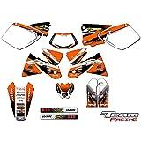 Team Racing Graphics kit for 1998-2000 KTM EXC, ANALOGComplete kit