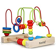 Bead Maze Activity Cube Wooden Toys - Classic STEM Toy for Baby, Toddlers Bead Roller Coaster Beads | Early Learning Toys for 18m+