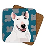 Bull Terrier Coaster by Leslie Gerry by Leslie Gerry