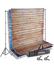 Neewer Système de Support Décors de Toile de Fond 2,6 x 3 mètres avec Kit de Fonds en Tissu DE 1,8 x 2,8 mètres (Blanc, Noir, Vert) pour Photographie Portrait Produit et Vidéo