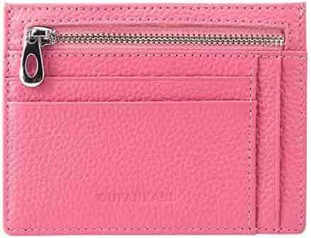 f7802bbdcd7 Slim Minimalist Wallet Credit Card Holder Front Pocket RFID Blocking Genuine  Leather Wallets for Men or