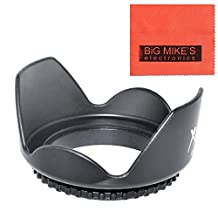 52mm Digital Tulip Flower Lens Hood For Nikon DF, D90, D3000, D3100, D3200, D5000, D5100, D5200, D5300, D7000, D7100, D300, D300s, D600, D610, D700, D800, D800e Digital SLR Cameras Which Has Any Of These Nikon Lenses (18-55MM, 55-200MM, 35MM f/1.8, 40MM f/2.8, 50MM f/1.8, 85mm f/3.5)