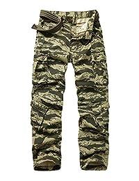 Men's Outdoor BDU Casual Military Tactical Wild Combat Cargo Work Camo Pants with 8 Pockets