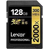 Lexar Professional 2000x 128GB SDXC UHS-II/U3 (Up to 300MB/s Read) - LSD128CRBNA2000R