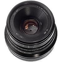 Fotga 25mm f1.8 Manual Focus HD/MC Prime Lens for Canon EOS EF-M Mount M M2 M3 M5 M6 M10 M50 M100 Dslr Cameras Black