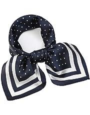 NaSoPerfect Silk Like Scarf Satin Hair Scarf Fashion Neck Scarfs for Women 21'' x 21''