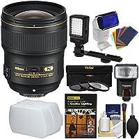 Nikon 28mm f/1.4E AF-S ED Nikkor Lens with Flash + Video Light + 3 UV/CPL/ND8 Filters + DVD + Kit