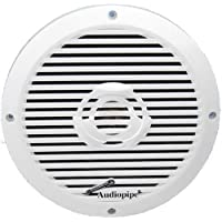 Audiopipe APSW-8032 8 350 Watt 2-Way Coaxial Marine Speaker White (Pair)