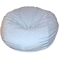 Ahh! Products Cuddle Minky Bubble Light Blue Washable Large Bean Bag Chair