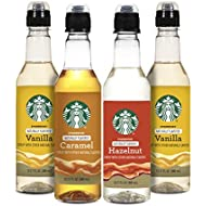 Starbucks Starbuck Variety Syrup 4pk, Variety Pack, 12.20 Ounce