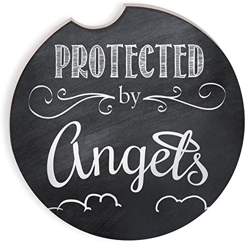 Angelstar Protected by Angels Auto Coaster, 2-3/4″, Multicolor