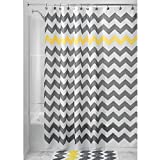 Celine lin Chevron Mildew-Free Polyester Water-Repellent Fabric Bath Curtain Shower Curtain,72*72inch,Yellow