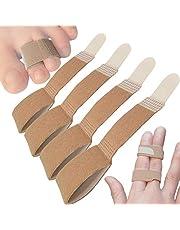 Chiroplax Non-Elastic Toe Wraps Buddy Tape (4 Pack) Broken Overlapping Hammer Toe Separator Brace Finger Cushion Bandages Splint Straightener