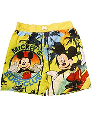 Disney Mickey Mouse Infant & Toddler Boys Surf Club Swim Trunks Board Shorts