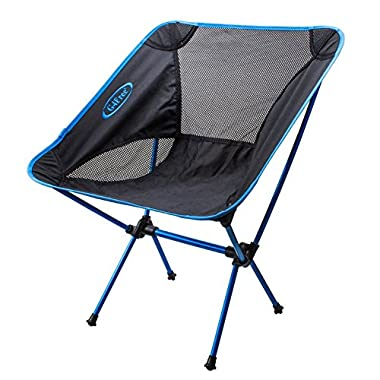 G4Free Portable ultralight outdoor/picnic/fishing folding sports chairs ground chair (Dark Blue)
