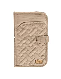 Lug Tandem Passport Wallet, Brushed Gold, One Size (Model: Tandem-Brushed Gold)