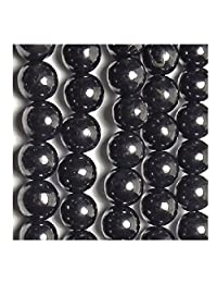Shungite Beads Set (50 Pcs), 6 mm, 8 mm, 10 mm, 12 mm. Shungite Stone Beads, Crystal Beads