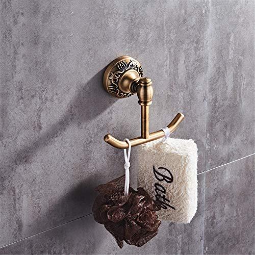 Clothes Hook BAIF TowelRackQX Bathroom Shelf,European Antique Bathroom Space Aluminum Metal Pendant Bathroom Rack Set Double Rack