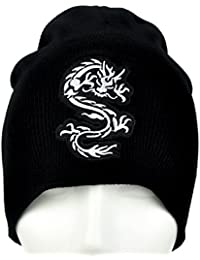 f20ce91a43a Chinese Bruce Lee Dragon Beanie Alternative Clothing Knit Cap Martial Arts