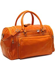 Floto Luggage Torino Duffle Suitcase, Orange, Large