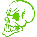 Sideview Skull Car Truck SUV Laptop Ipad Car Truck Window Wall Vinyl Decal Sticker (Lime Green)