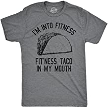 Crazy Dog T-Shirts Mens Fitness Taco Funny T Shirt Humorous Gym Mexican Food Tee for Guys