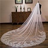 Wedding Bridal Veils, Uranny 4M White/Lvory Luxury