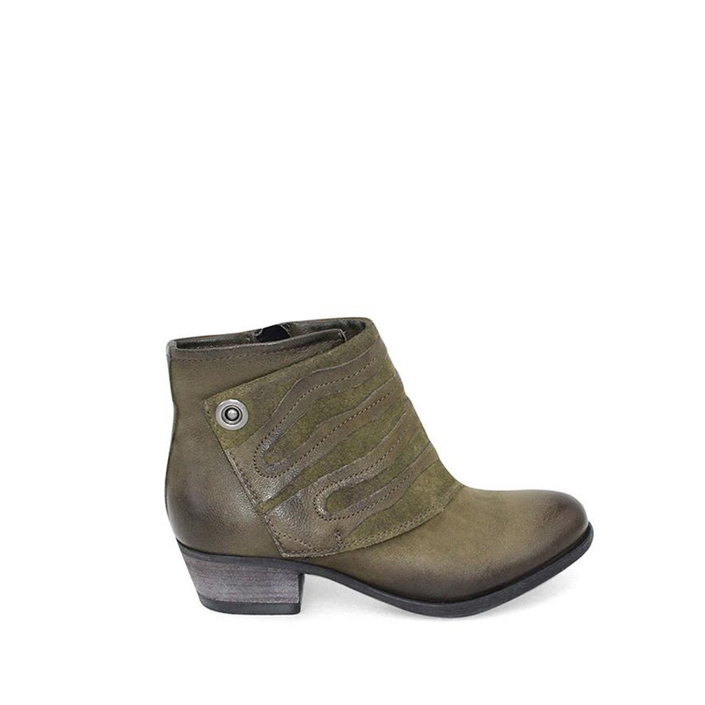 Miz Mooz Women's Benny Ankle Boot B06XS32JZZ 38 M EU (7.5-8 US) Army
